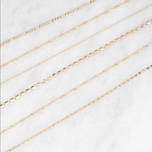 Jewelry - Set of Metallic Gold Chokers - 6 total - BNWT